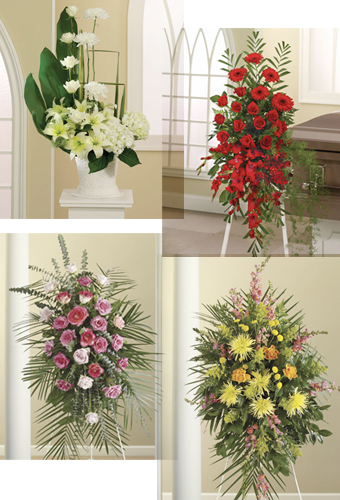 Sympathy Spray Item No F1 2060 A Standing Of Lilies Gladiolus Roseore Shown In Shades Pink And White Appropriate For Funeral Home